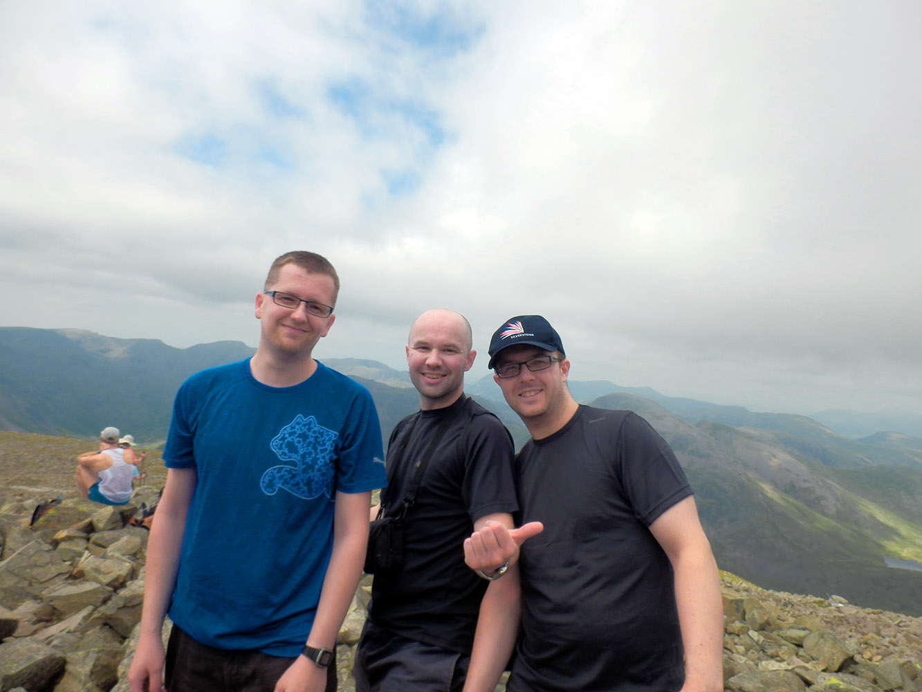 Dean, me and Danno atop Scafell Pike